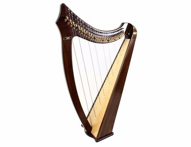Aoyama 29 String Lever Walnut Harp