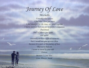 JOURNEY OF LOVE POEM PERSONALIZED GIFT FOR BOYFRIEND, GIRLFRIEND, HUSBAND, WIFE