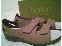 Pair of Hotter Nubuck Mink Coloured Sandals