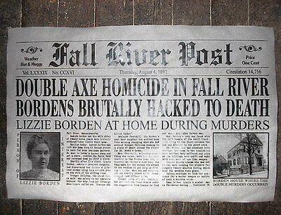 (158) Novelty Poster Halloween Lizzie Borden Fall River Mass. Axe Murder 18x30