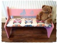 Lovely Vintage Pink Children's VW Bench - Free Delivery