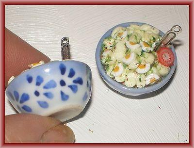 Schüssel mit Kartoffelsalat -  Miniatur für die Puppenstube 1.12