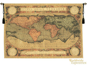 Old World Map Hanging Wall Tapestry