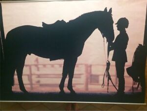 6'x4' Equestrian and Horse hanging wall Canvas