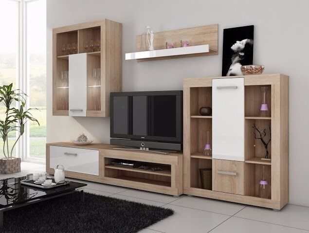 Living Room Furniture Set Tv Stand Cabinet Unit Cupboard Wall
