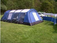 Kampa Croyde 6 man tent and extras