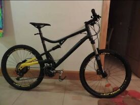 B-Twin RockRider Full Suspension Mountain Bike.