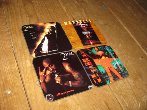 2Pack Tupac Album Cover COASTER Set