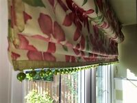 Roman Floral Blind with Bead Embellishment