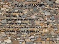40 years experience   Brick and stone installation and repair