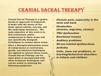 Craniosacral and Massage Therapy Services!