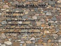 Masonry repairs or build