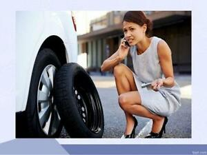 Your car has a flat tire? We are offering a mobile flat tire service/repair anywhere in G.T.A
