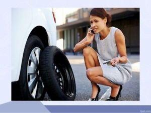 ST. Albert Mobile flat tire repair service