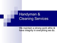 COTTAGE OPENINGS-HANDYMAN AND CLEANING SERVICES