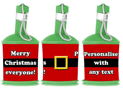 Personalised DIY Christmas SANTA BELT Party Popper WRAPPERS ONLY - Decoration (Diy Party Poppers)