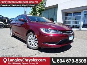 2016 Chrysler 200 LX W/ POWER WINDOWS/LOCKS, KEYLESS GO & A/C