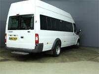 2013 FORD TRANSIT 430 TDCI 135 LWB EL HIGH ROOF 17 SEAT MINIBUS DRW RWD MINIBUS