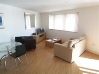 Beautiful 1 bedroom with private balcony,wood flooring,parking in Orion Point, Crews Street, London