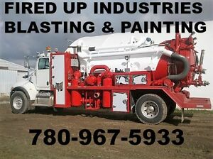FIRED UP INDUSTRIES BLASTING AND PAINTING SEMI VACS VAC TRUCKS
