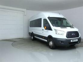 2015 FORD TRANSIT 460 TDCI 155 L4 H3 TREND 17 SEAT BUS HIGH ROOF DRW RWD MINIBUS