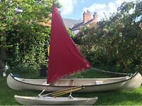 Barely used Canadian style canoe - hand made in Nottingham. £450 ONO.
