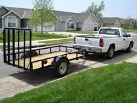 Truck and utility trailer for hire or cube van