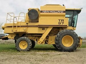 1995 New Holland TR97 Twin Rotor Combine London Ontario image 2