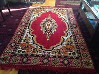 Two identical area thin rugs for sale 8 ft x 5 ft