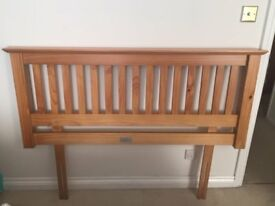 """Solid wood headboard to fit 4'6"""" double bed"""