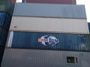 40' Standard Shipping/Storage Container w/vents, lockbox & paint