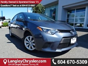 2014 Toyota Corolla LE *ACCIDENT FREE*ONE OWNER*LOCAL BC CAR*
