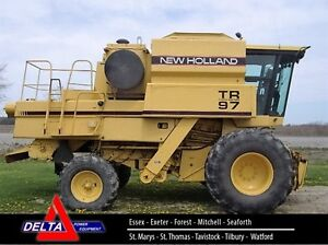 1995 New Holland TR97 Twin Rotor Combine London Ontario image 1