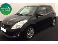 £148.72 PER MONTH BLACK 2013 SUZUKI SWIFT 1.2 SZ4 5 DOOR PETROL AUTOMATIC