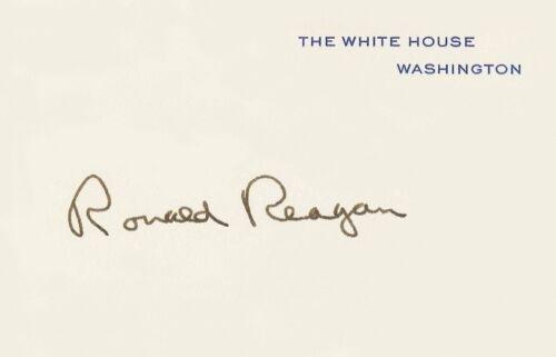 President Ronald Reagan White House Card