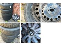 5x steel wheels with excellent tyres