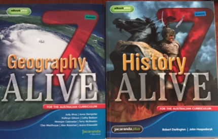 Year 7 Humanities Text books- Alive7