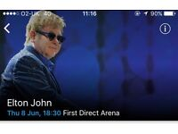 3 x tickets for Elton John at Leeds Arena on 8th June.