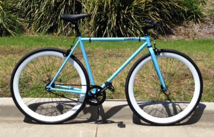** DEMO ** 54cm Blue & White Single Speed Bike Cammeray North Sydney Area Preview