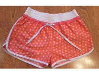 Coral Flower Print Shorts Size 10