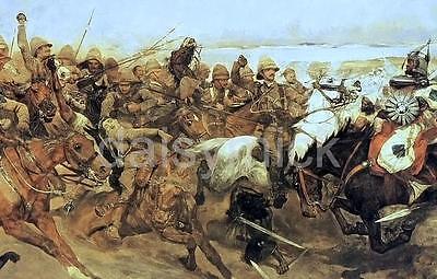 British Army Cavalry Kitchener Battle of Omdurman Sudan 1898 6x4 Inch Print R