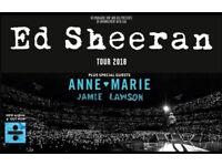 2 x Ed Sheeran Wembley Seated tickets