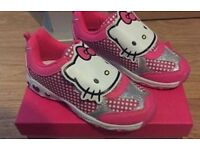 Hello Kitty Light Up Trainers (new) sizes,6,9,10,,11,12