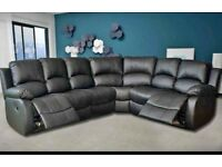 new 3 and 2 seater leather recliner sofa 239