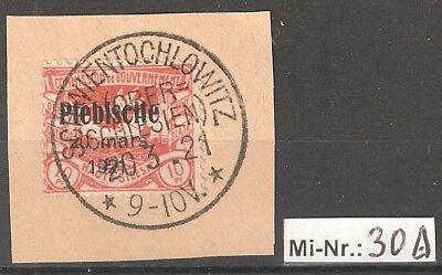 Oberschlesien Mi-Nr.: 30 sauber auf Brieftsück mit top Stempel Schwientochlowitz