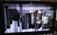 We buy TV 's- DAMAGED SCREEN and NON WORKING LCD; LED and PLASMA