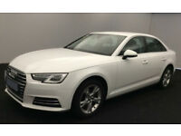 White AUDI A4 SALOON 1.4 1.6 TFSI Petrol SPORT FROM £62 PER WEEK!