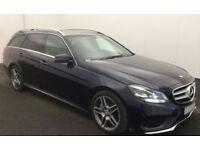 BLUE MERCEDES-BENZ E250 E350 CDI AMG LINE NIGHT PREMIUM ESTATE FROM £88 PER WEEK