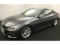 Grey BMW 430d M Sport Coupe 2015 Auto Leather FROM £103 PER WEEK!