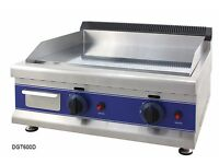 Brand New Commercial Gas Griddle Hotplate Grill 60cm With 2 Burner